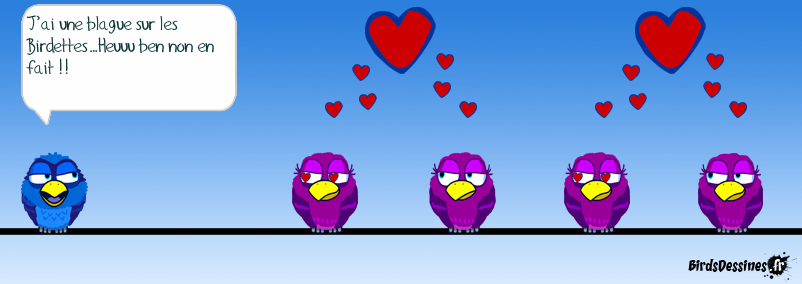 Blague sur les Birdettes ou comment troubler un Bird