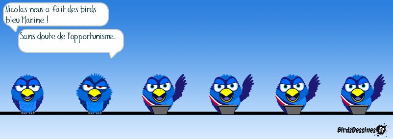 Birds bleu Marine