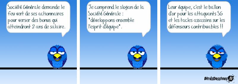 Société Générale nous met la branlée aux français.