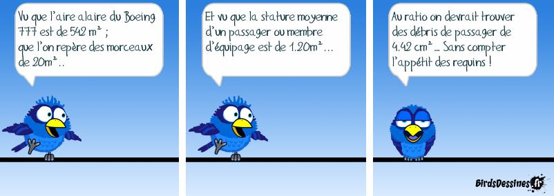 Vol MH370 ; théorème du professeur Foldingue… (Humour Noir)