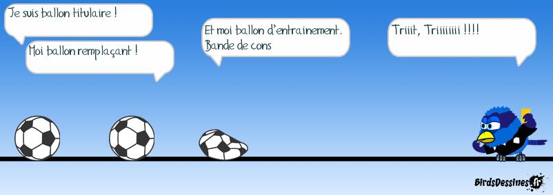 Les ballons pour le Brésil