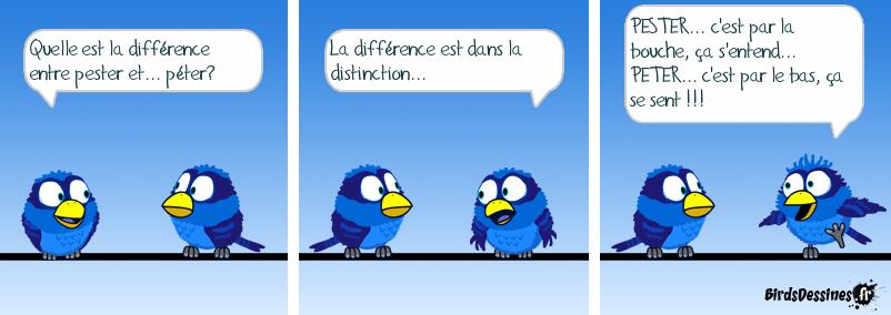 La différence est dans la distinction...