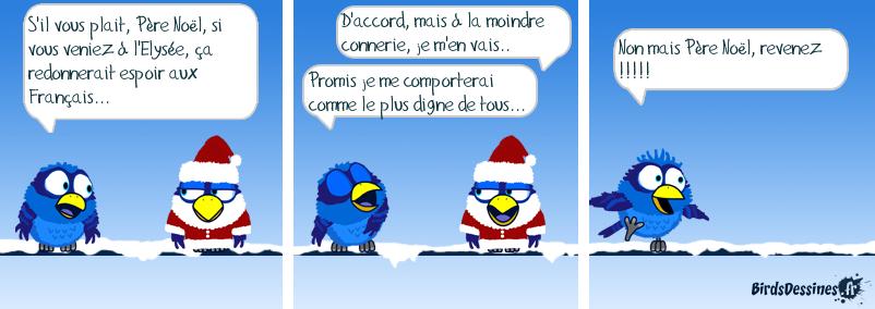 Hollande et le Père Noël