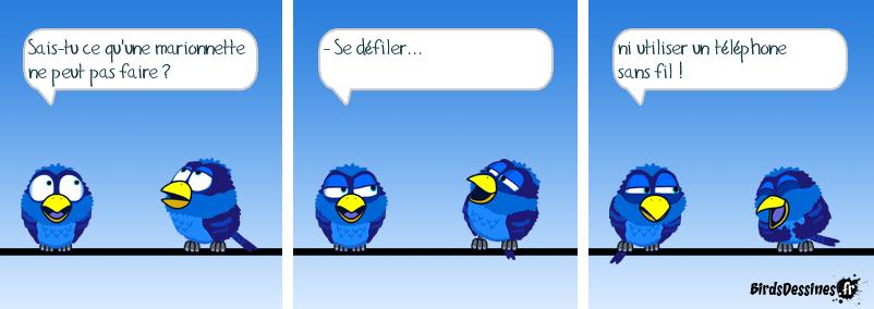 Les Birds,des marionnettes sur le fil