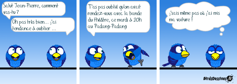 les birds au theatre