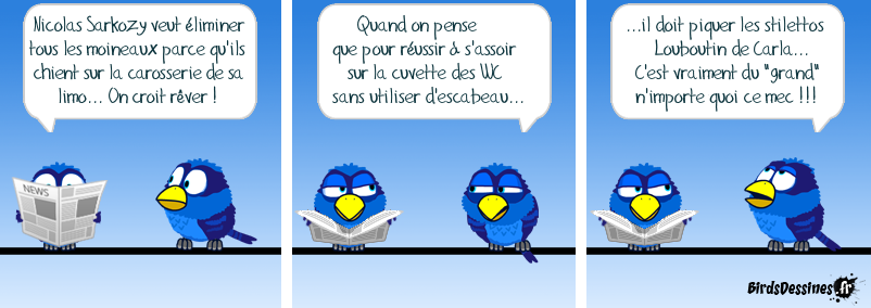 Sarkozy VS moineaux