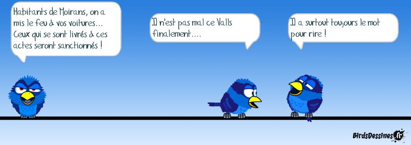 Valls apporte son soutien aux habitants de Moirans