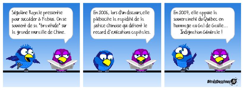 Les ségolinades au quai d'Orsay ...