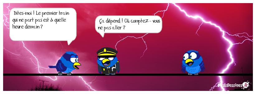 JOUR DE GRÈVE S.N.C.F.