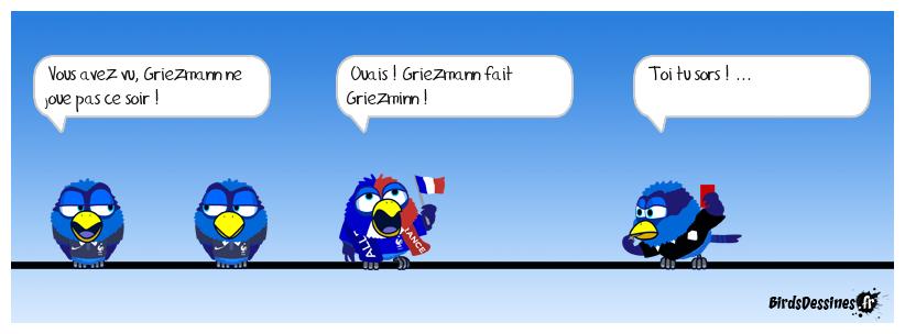 Griezmann ne joue pas ce soir...