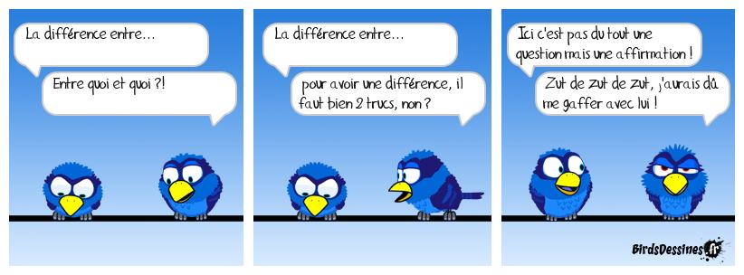 la différence  entre