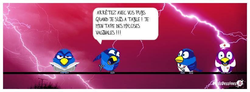 MARRE  DES PUBS A L'HEURE DES REPAS