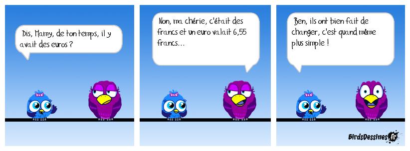 Euros ou francs
