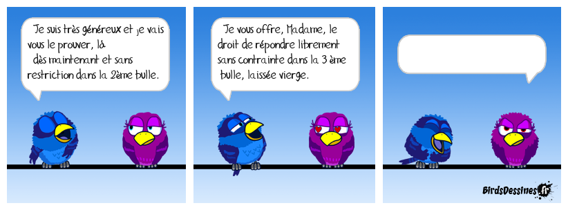 Bird généreux