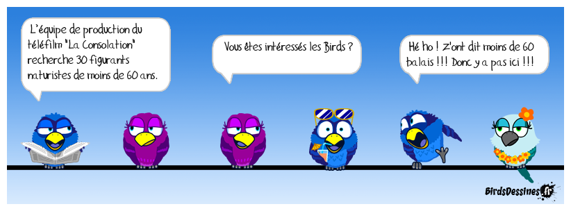 Please pas taper les birds !!! pas taper !!!