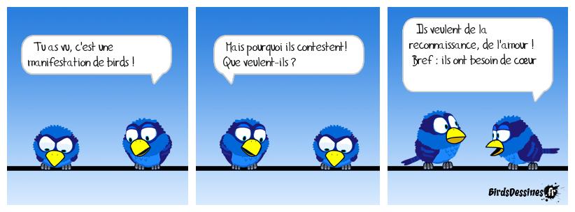 La manif qui d'Birds