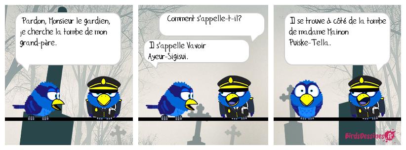 Dialogue tombal.