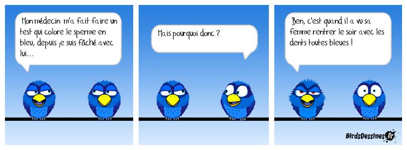 Test au bleu