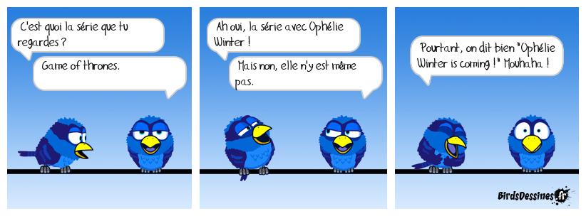 Ophélie et l'hiver arrivent !