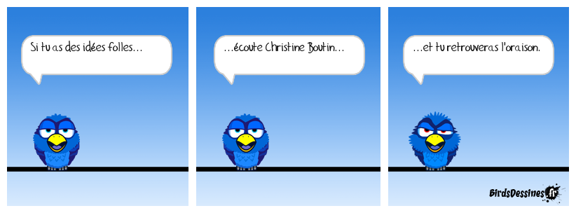 Christine va au pieux.