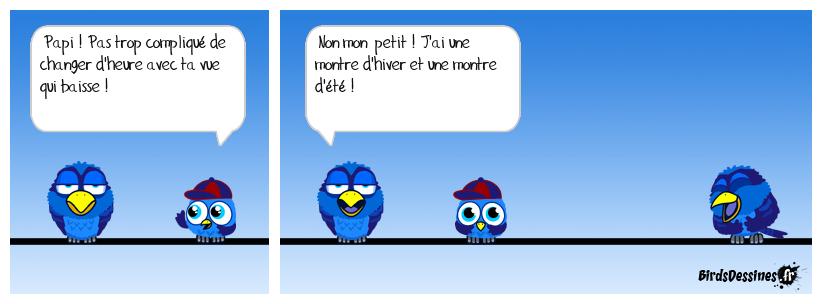 CHANGEMENT D'HEURE, MALIN LES VIEUX
