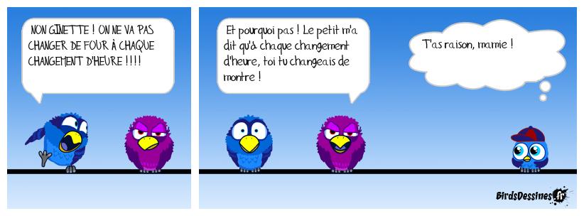 CHANGEMENT D'HEURE, MALINE LA GINETTE