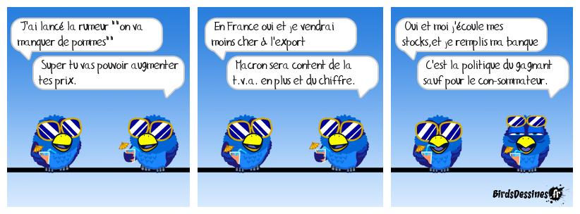 PÉNURIE DE POMMES ?