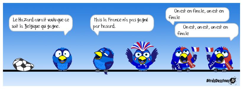 ♪ ♫ On est en finale  de la coupe du monde ♫ ♪