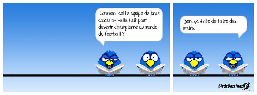 Arbitrage vidéo, équipe de France : zéro main.