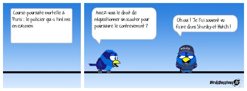 Course-poursuite à Paris