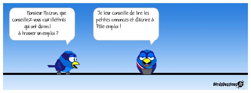 Macron et les illettrés