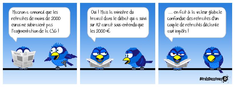 Grâce à Macron, mathématiquement  (1000 -CSG) +(1000-CSG  ne font pas 2000 ?