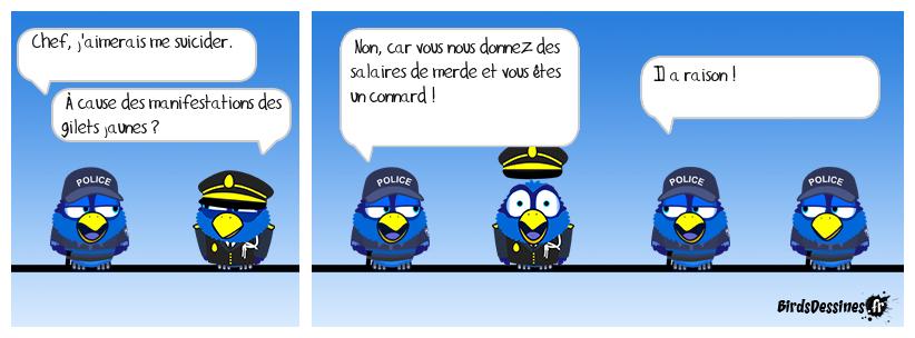 La police en faillite