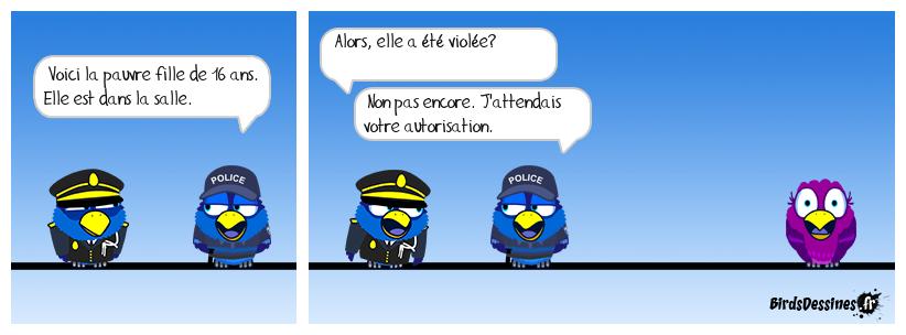 Faut surveiller les flics.