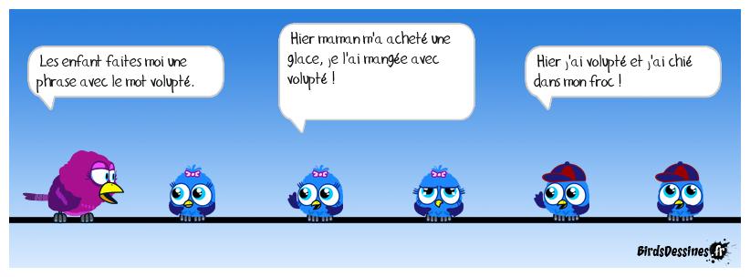 cours de Francais, la volupté !