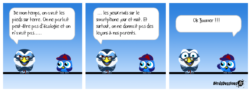 Cause toujours papy …..!