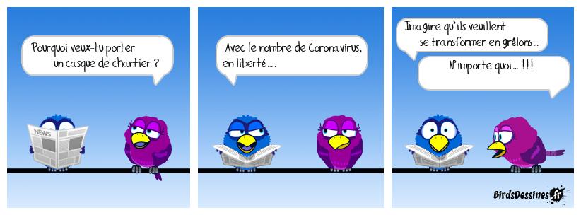 Coronavirus & casque de chantier...