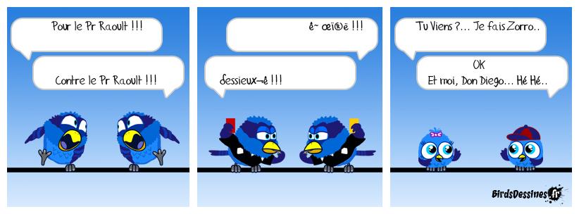 Pr Raoult vs Pr Raoult...