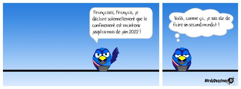 Le président de la République Emmanuel Macron s'adresse à la France