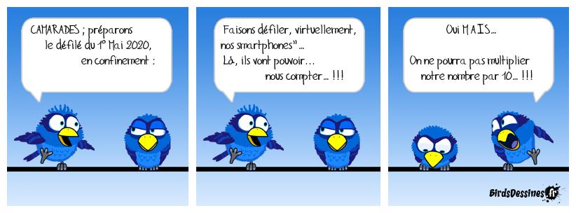 Défilé du 1° Mai 2020 par smartphone… (Version Syndicale v1...)