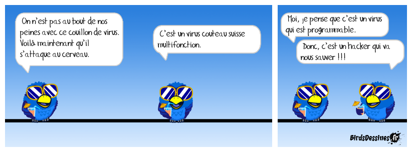 Virus Terminator au comptoir !
