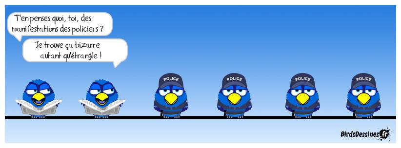 Manifestations policières