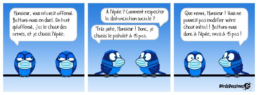 Le port du masque ne suffit pas ! Il faut aussi respecter la distanciation sociale !