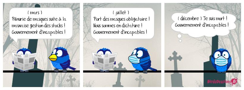Un bon Français, ça râle contre le gouvernement jusque dans la tombe !