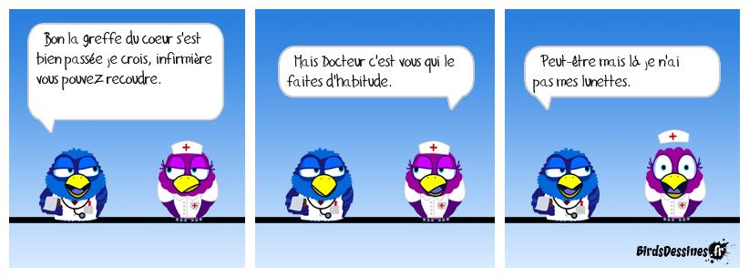 Bigre, le chirurgien est myope.