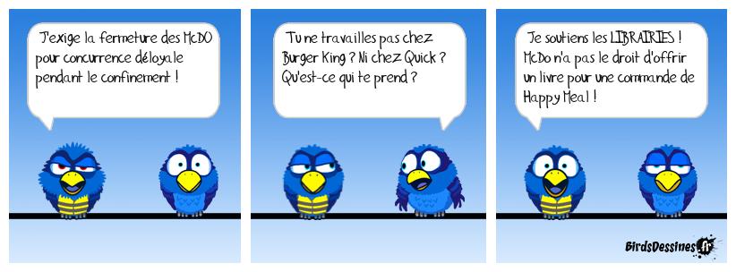 Burger Librairie : Deux feuilles de bouquin entre deux dictionnaires...