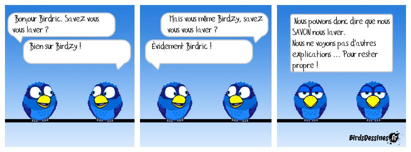 BIRDRIC ET BIRDZY étudient le mot : SAVON
