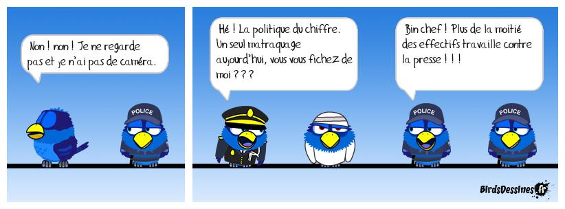 Surcharge de travail dans la police.