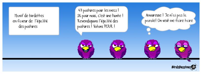 PARITÉ BIRDS, BIRDETTES !