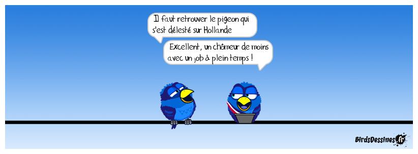Utiliser un pigeon expérimenté pour Chaudron et sa BD EH ! CROTTE ...